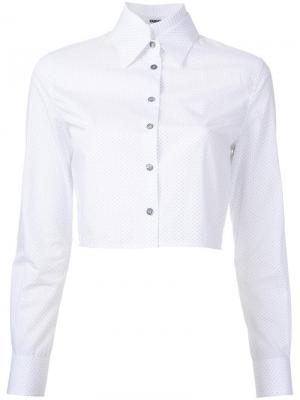 Укороченная рубашка в горошек Jourden. Цвет: белый