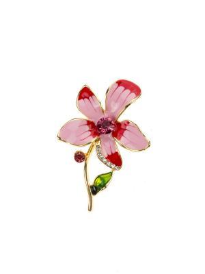 Брошь Bijoux Land. Цвет: золотистый, красный, розовый