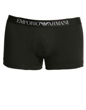 Emporio Armani Боксеры-брифы из эластичного хлопка. Цвет: черный