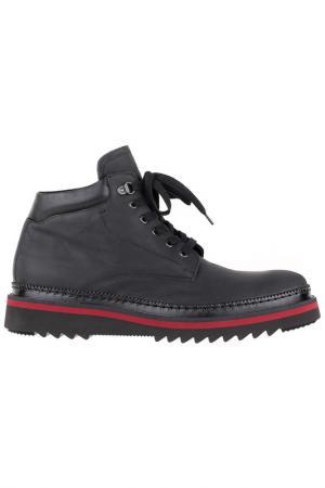 Ботинки на шнурках Gianfranco Butteri. Цвет: черный