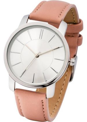 Часы на классическом браслете (дымчато-розовый) bonprix. Цвет: дымчато-розовый