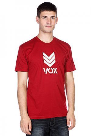 Футболка  Trademark Burgundy VOX. Цвет: бордовый