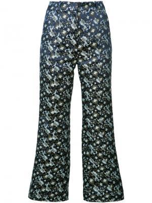 Укороченные брюки Jeda Erdem. Цвет: синий