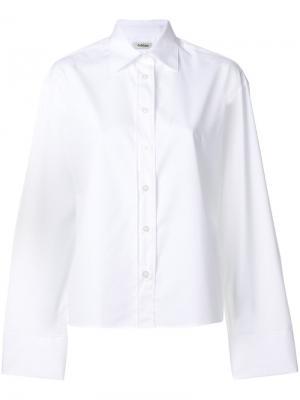 Классическая рубашка с длинными рукавами Toteme. Цвет: белый