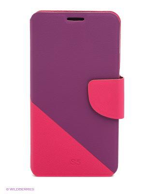 Чехол для Samsung S5 WB. Цвет: розовый, фиолетовый