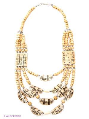 Ожерелье ГАНГ. Цвет: светло-бежевый
