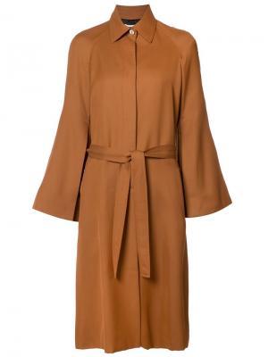 Пальто с поясом Rosetta Getty. Цвет: коричневый