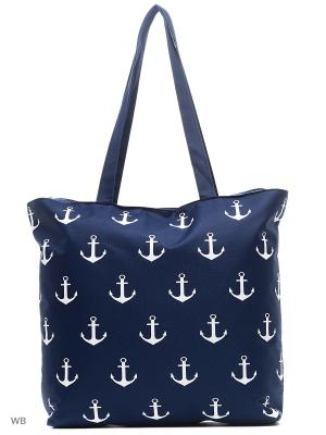 Пляжная сумка Modis. Цвет: темно-синий, белый