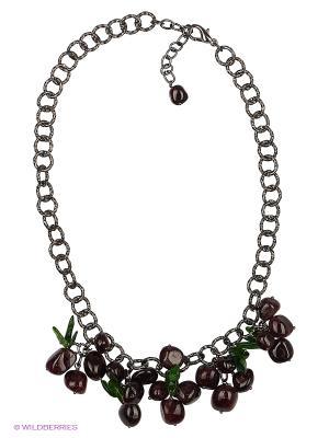 Ожерелье Polina Selezneva. Цвет: бордовый, зеленый, черный