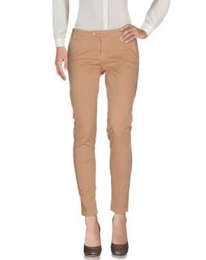 Повседневные брюки KOCCA. Цвет: верблюжий
