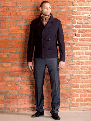 Пальто ODRI. Цвет: черный, темно-коричневый