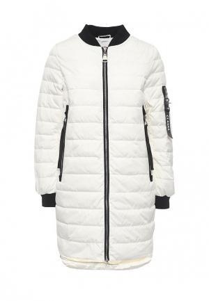 Куртка утепленная Clasna. Цвет: белый