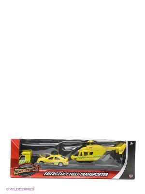 Игровой набор Перевозчик с машиной и вертолетом, желтые HTI. Цвет: желтый