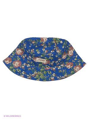 Панама Запорожец Цветочки. Цвет: синий, коричневый