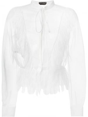 Прозрачная блузка Rochas. Цвет: телесный