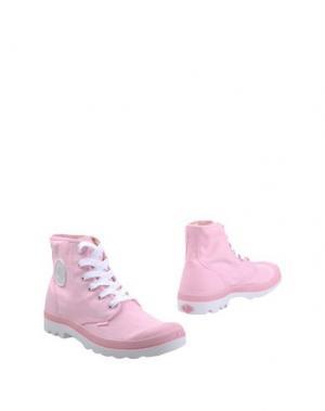 Полусапоги и высокие ботинки PALLADIUM. Цвет: розовый
