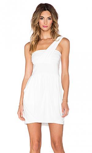 Платье с одним плечом T-Bags LosAngeles. Цвет: белый