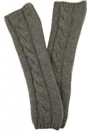 Вязаные митенки из кашемира Kashja` Cashmere. Цвет: хаки