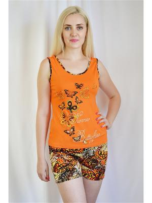 Комплект Miata. Цвет: оранжевый, коричневый