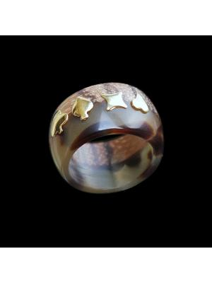 Кольцо Andrea Marazzini. Цвет: золотистый, коричневый