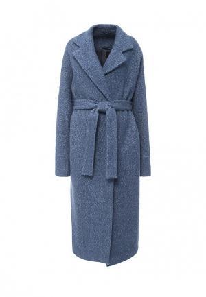 Пальто Uona. Цвет: голубой