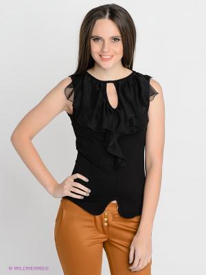 Блузка SUGARLIFE. Цвет: черный