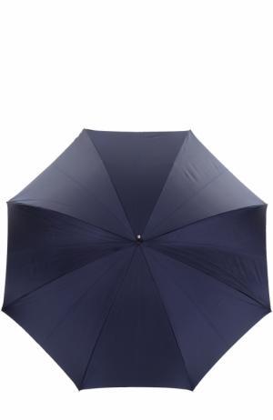 Зонт-трость с цветочным принтом Pasotti Ombrelli. Цвет: темно-синий