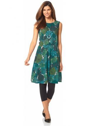 Платье CHILLYTIME. Цвет: зеленый с рисунком