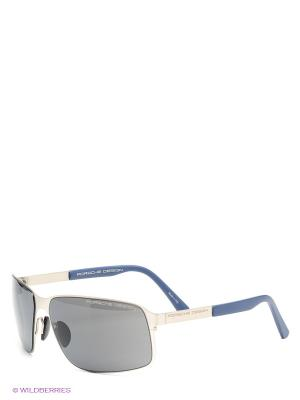 Солнцезащитные очки Porsche Design. Цвет: серый, темно-синий