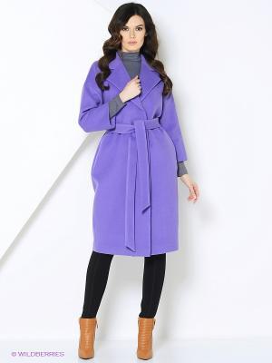 Пальто RUXARA. Цвет: сиреневый