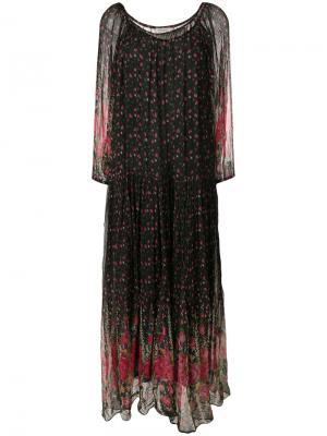 Платье с цветочным узором Mes Demoiselles. Цвет: многоцветный