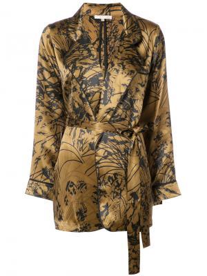 Printed wrap blouse Gold Hawk. Цвет: металлический