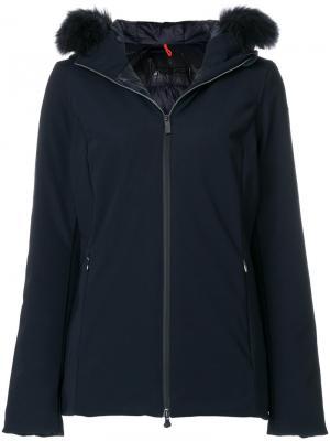 Куртка-пуховик Winter Storm с лисьим мехом Rrd. Цвет: синий