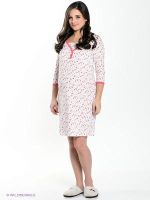 Ночная сорочка Hunny Mammy. Цвет: молочный, красный