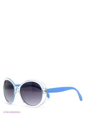 Солнцезащитные очки United Colors of Benetton. Цвет: голубой, прозрачный