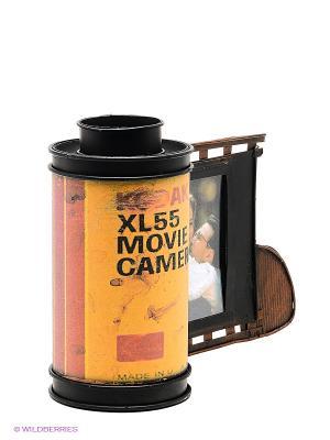 Фоторамка с подставкой для ручек Фотоплёнка Kodak 6х9см PLATINUM quality. Цвет: коричневый, желтый