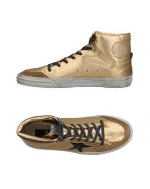 Высокие кеды и кроссовки GOLDEN GOOSE DELUXE BRAND. Цвет: золотистый