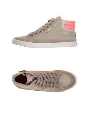 Высокие кеды и кроссовки REPLAY & SONS. Цвет: серый