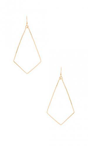 Серьги ellory Mimi & Lu. Цвет: металлический золотой