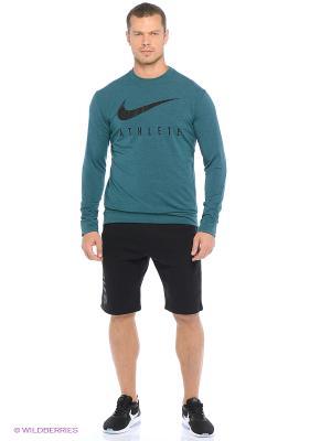 Лонгслив DRI-FIT TRAINING CREW GFX Nike. Цвет: зеленый