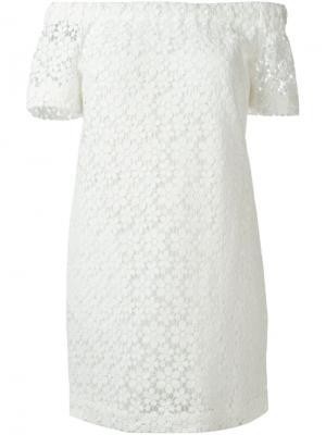 Платье с вышивкой A.L.C.. Цвет: белый