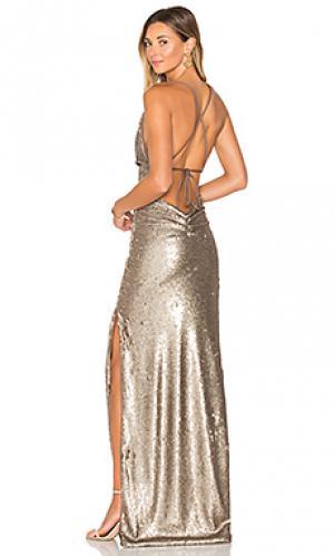 Вечернее платье fishscale dupey Gemeli Power. Цвет: металлический бронзовый