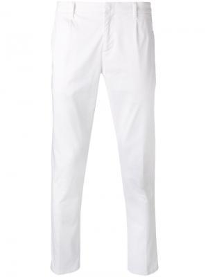 Прямые брюки Paolo Pecora. Цвет: белый
