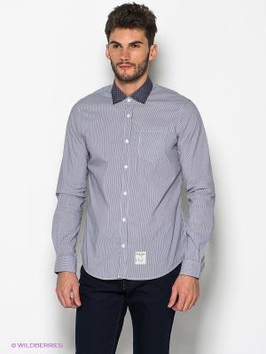 Рубашка Fred Mello. Цвет: темно-синий, белый