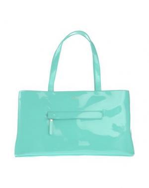 Большая кожаная сумка BHAILIÙ. Цвет: бирюзовый