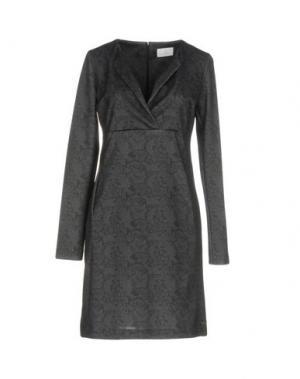 Короткое платье CONTE OF FLORENCE. Цвет: свинцово-серый