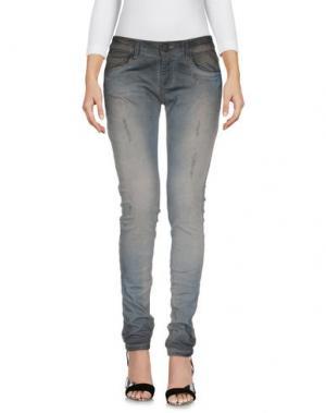 Джинсовые брюки MNML COUTURE. Цвет: серый