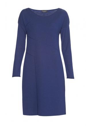 Платье из шерсти 9556 Baroni. Цвет: синий