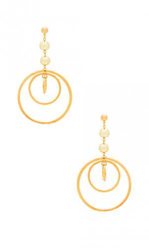 Серьги-кольца zelda Vanessa Mooney. Цвет: металлический золотой