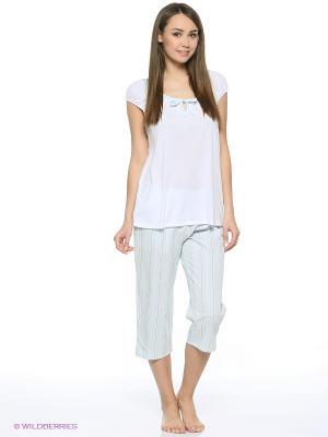 Пижама Triumph. Цвет: светло-серый, белый